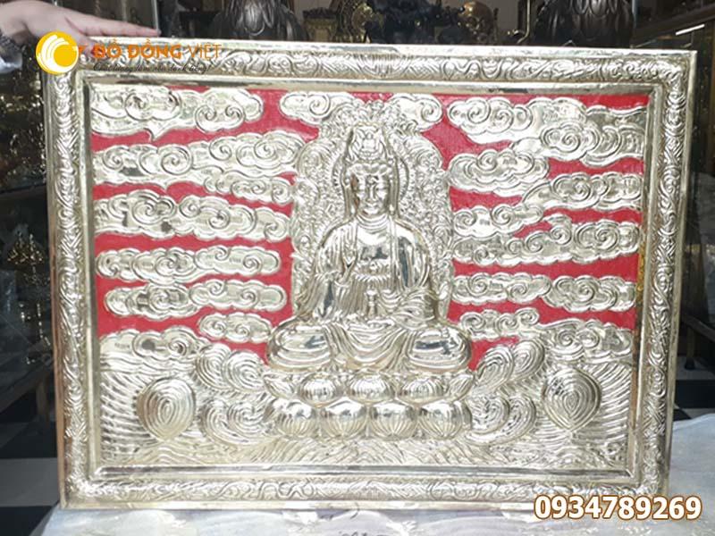 Tranh đồng Phật Bà Quan Âm