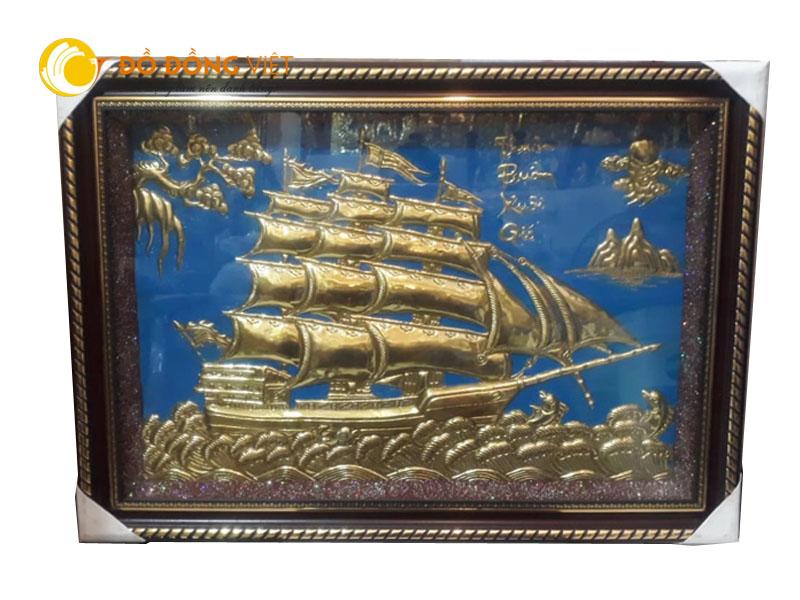 Tranh đồng thuần buồm xuôi gió, quà tặng tranh thuyền buồm ý nghĩa