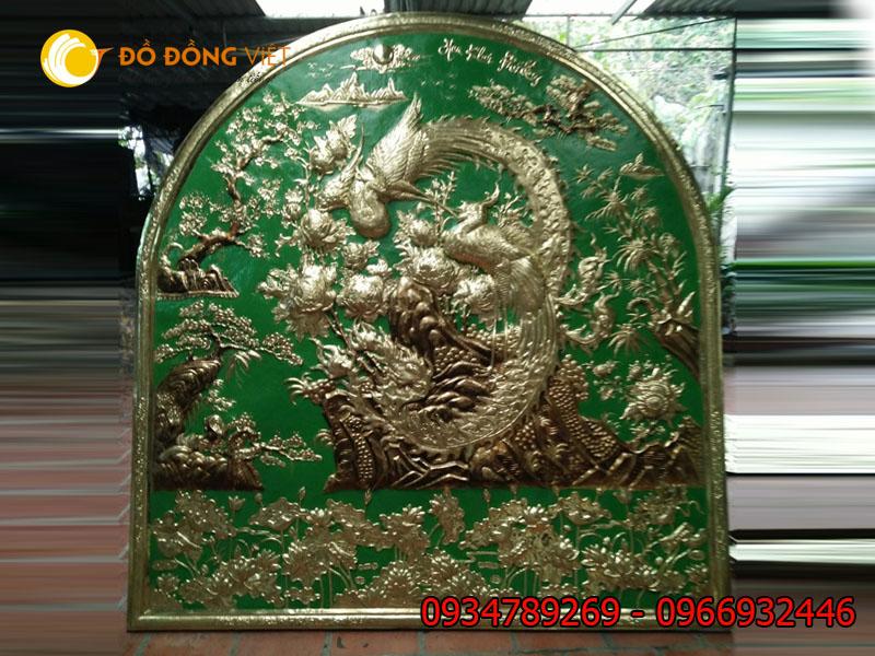 Tranh đồng Khai Hoa Tứ Quý 2m x2m5