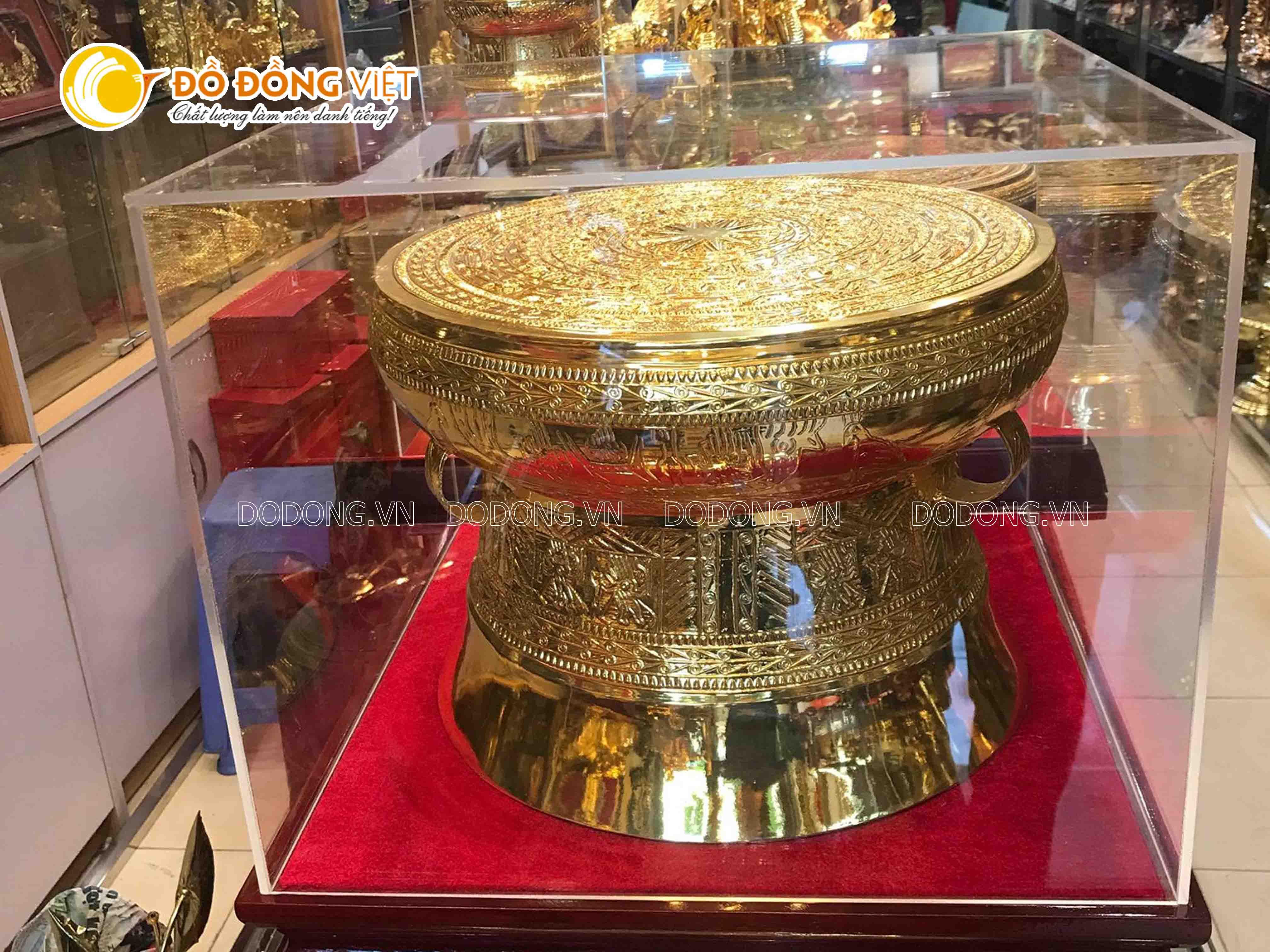 Trống đồng mạ vàng 45 cm