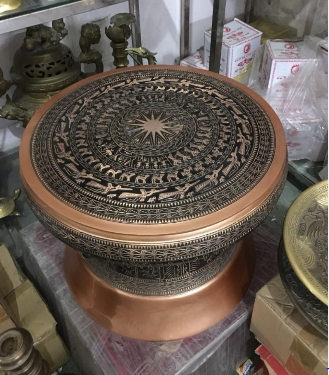 Trống đồng quà tặng, trống đồng Đông Sơn dk 50cm làm quà tặng lưu niệm