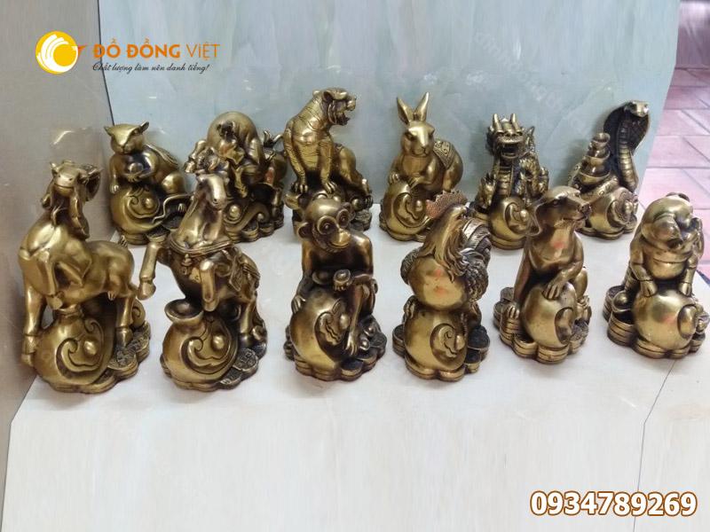 Tượng 12 con giáp bằng đồng