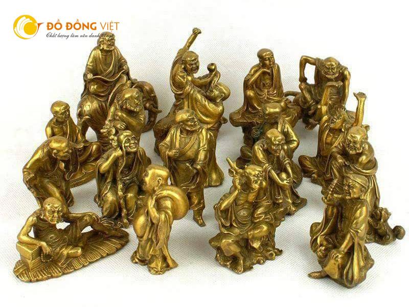 Tượng 18 vị la hán bằng đồng, Đồ đồng Việt bán 18 mẫu tượng vị la bán cỡ nhỏ