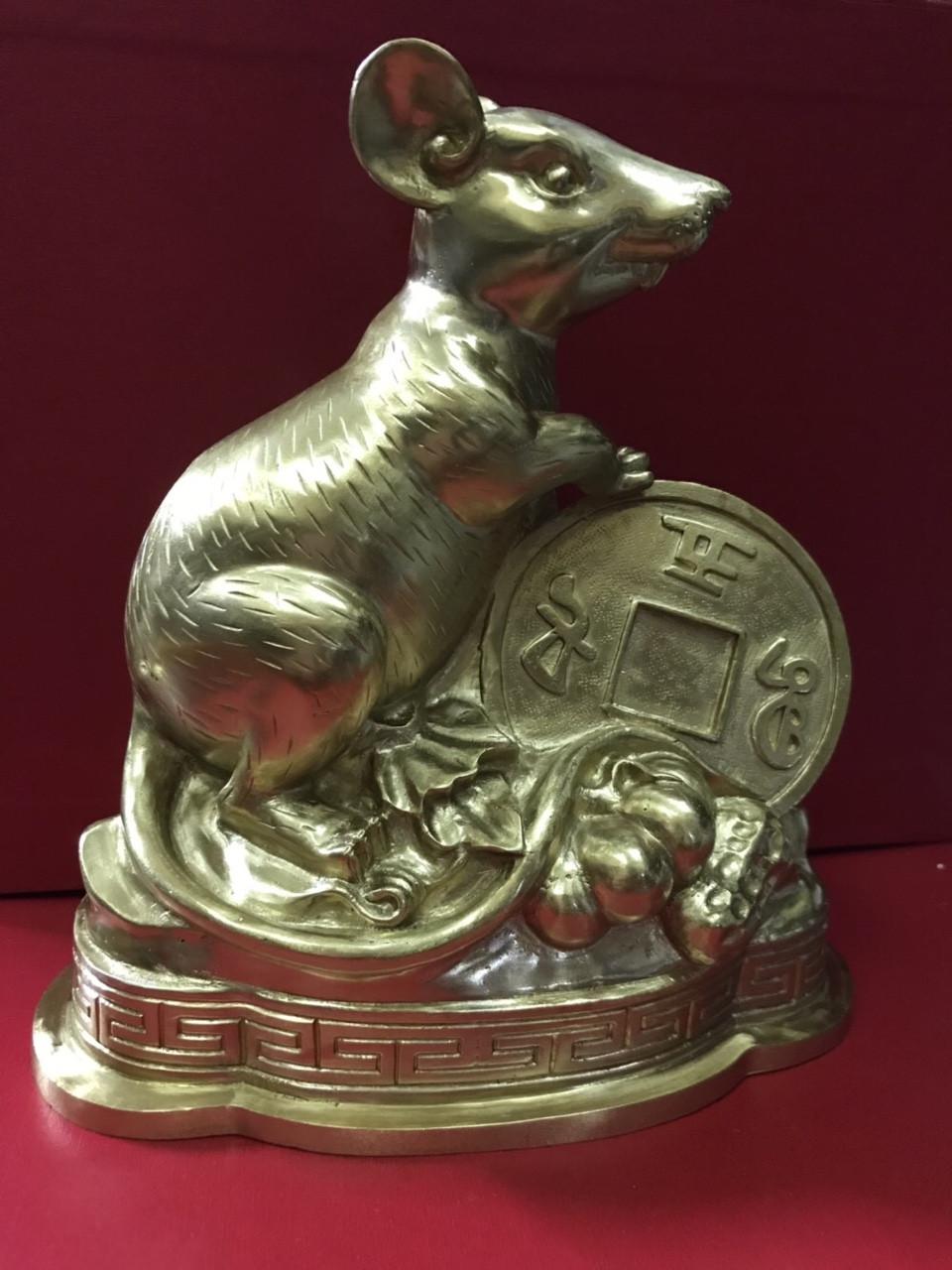 Tượng chuột bằng đồng, tượng linh vật  phong thủy cho người tuổi Tí