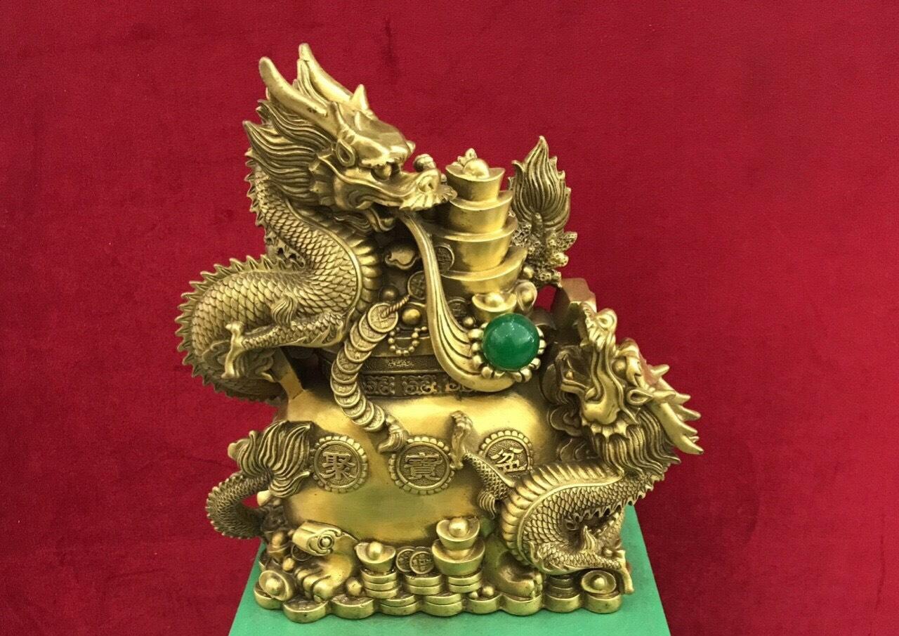 Tượng con rồng bằng đồng, quà tặng phong thủy ý nghĩa