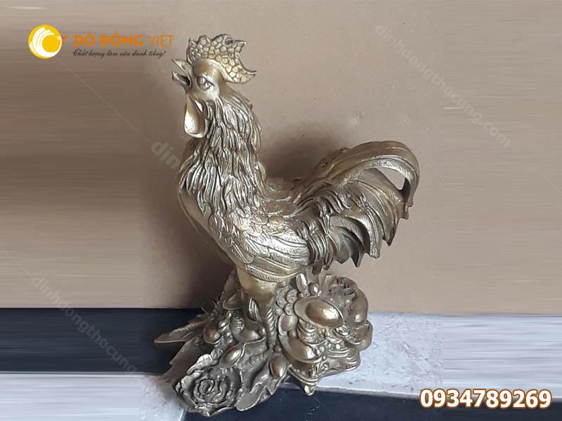 Bán tượng gà phong thuỷ bằng đồng nhiều kích cỡ giá rẻ