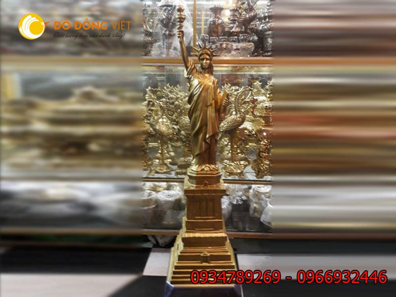 Tượng nữ thần tự do bằng đồng cao 90cm