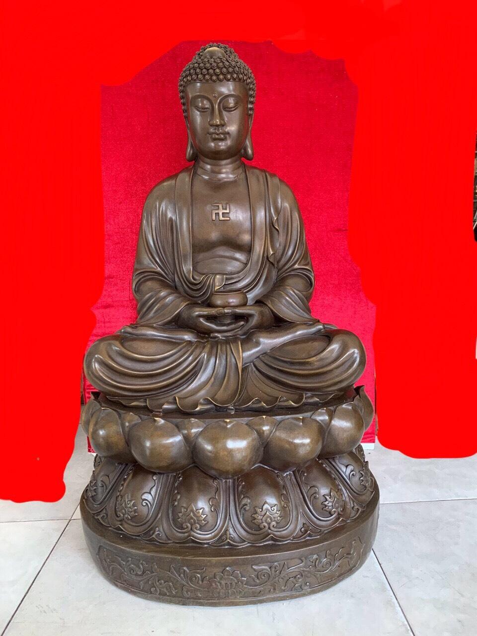 Tượng Phật A Di Đà cỡ nhỏ đặt trong xe ô tô