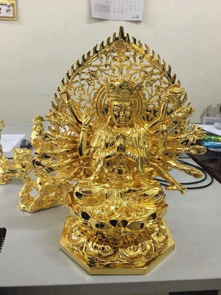 Tượng Phật Dát Vàng 24k đẹp tại TP HCM
