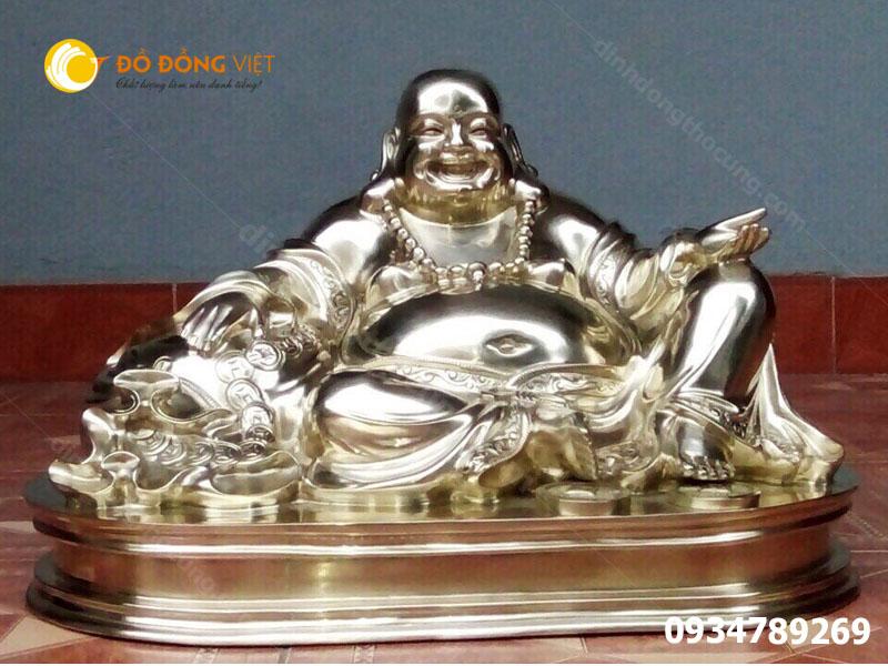 Tượng Phật di lạc mạ vàng