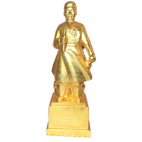 Tượng Trần Quốc Tuấn bằng đồng mạ vàng 24k