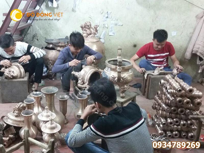 Xưởng đúc đỉnh đồng thờ cúng, bán đỉnh đồng giá tại xưởng sản xuất