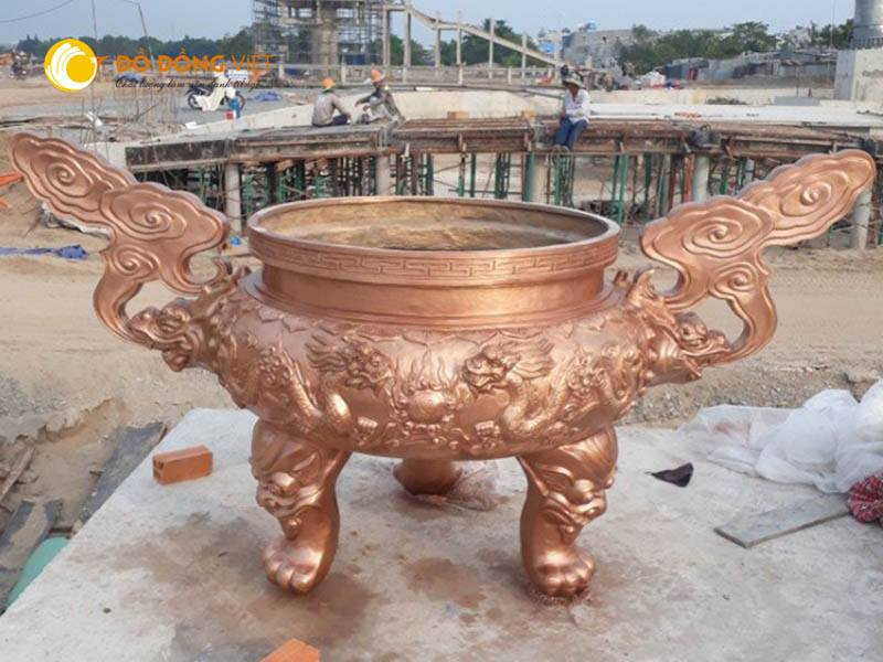 Xưởng đúc lư hương đình chùa bằng đồng giá rẻ chất lượng tại Sài Gòn