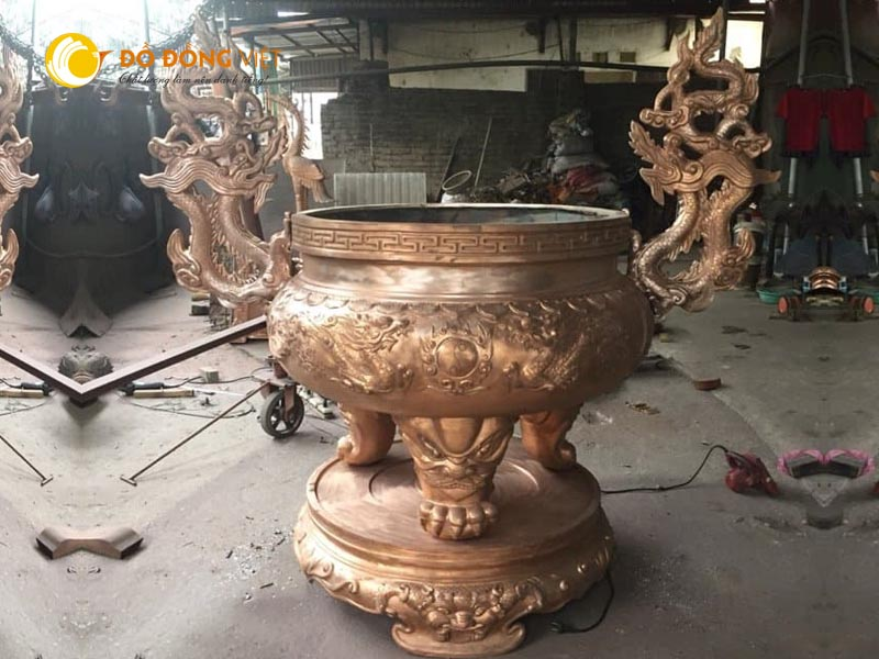 Xưởng đúc lư hương tại TP HCM, đơn vị đúc lư hương đình chùa theo yêu cầu giá rẻ chất lượng